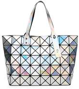 Kayers Sulliva Women's Fashion Geometric Diamond Lattice Tote Glossy PVC Shoulder Bag Top-handle Handbags