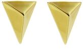 Jennifer Fisher Triangle Stud Earrings - Yellow Gold