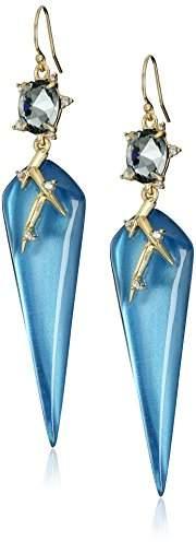 Alexis Bittar Satellite Crystal Spike Wire Horizon Blue Drop Earrings