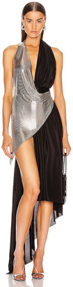Fannie Schiavoni Devin Dress in Silver & Black | FWRD