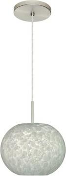 Carrera Luna 1 - Light Single Globe Pendant Besa Lighting Finish: Satin Nickel, Glass Shade