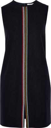 Parker Chinti & Embroidered Wool-blend Felt Mini Dress