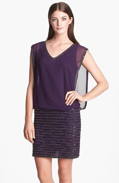 J Kara Embellished Sleeveless Short Dress
