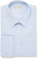 Gieves & Hawkes - Blue Slim-fit Striped Cotton Shirt