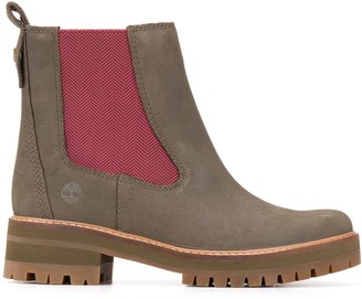 Timberland Contrast-Stripe Boots