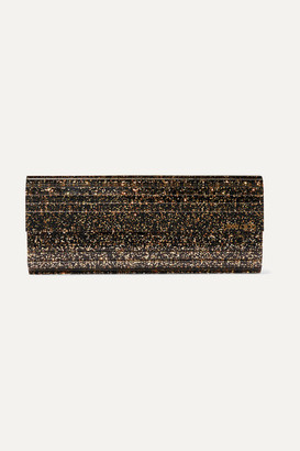 Jimmy Choo Sweetie Glittered Acrylic And Leather Clutch - Black