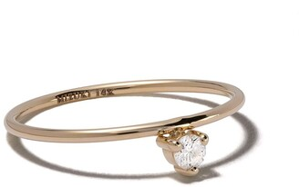 Mizuki 14kt Yellow Gold Diamond Solitaire Ring