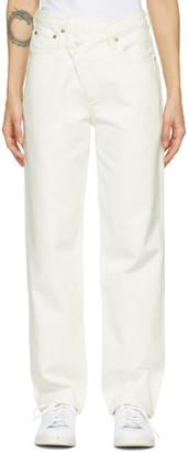 AGOLDE White Criss Cross Upsized Jeans