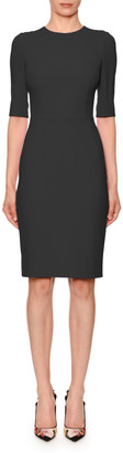 Dolce & Gabbana Half-Sleeve Jewel-Neck Sheath Dress