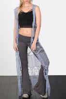 POL Crochet Tunic Cardigan