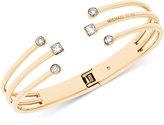 Michael Kors Crystal Cuff Hinged Bracelet
