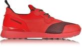 Hogan Running R261 Red Nubuck and Neoprene Slip on Men's Sneaker