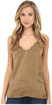 Free People Sensual Satin Scallop Deep-V Cami