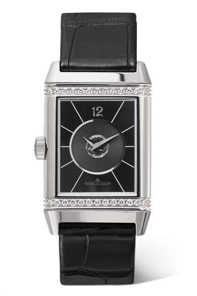 Jaeger-LeCoultre JaegerLeCoultre - Reverso Classic Duetto 24.4mm Medium Stainless Steel, Alligator And Diamond Watch