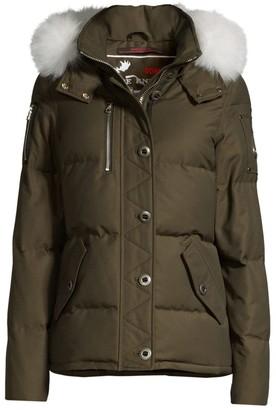 Moose Knuckles 3Q Fox Fur-Trim Quilted Jacket
