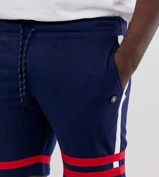 Jack and Jones Core stripe jersey short in blue