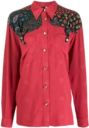 Moschino Pre Owned 1990s Paisley Panel Shirt