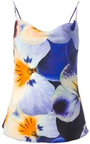 Christopher Kane pansy print top - women - Silk - 40