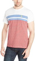 U.S. Polo Assn. Men's Engineered Stripe Crew Neck T-Shirt