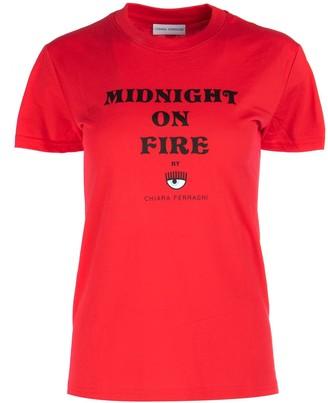 Chiara Ferragni Midnight On Fire Print T-Shirt