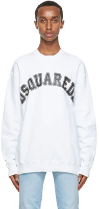 DSQUARED2 White Logo College Sweatshirt