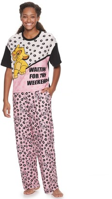Simba Licensed Character Disney's Lion King Pajama Tee & Pajama Pants Set