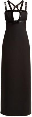 Miu Miu Tricotine Wool And Silk-blend Gown - Black