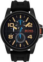 HUGO BOSS Hugo Detroit Black Multi Dial Black IP Case Black Rubber Strap Mens Watch
