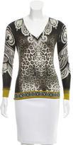 Etro Silk & Cashmere-Blend Leopard Print Top