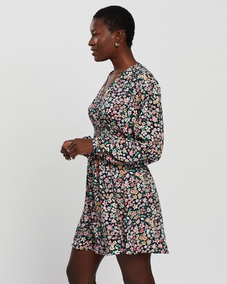 Only Women's Multi Long Sleeve Dresses - Tamara LS Printed Dress - Size S at The Iconic