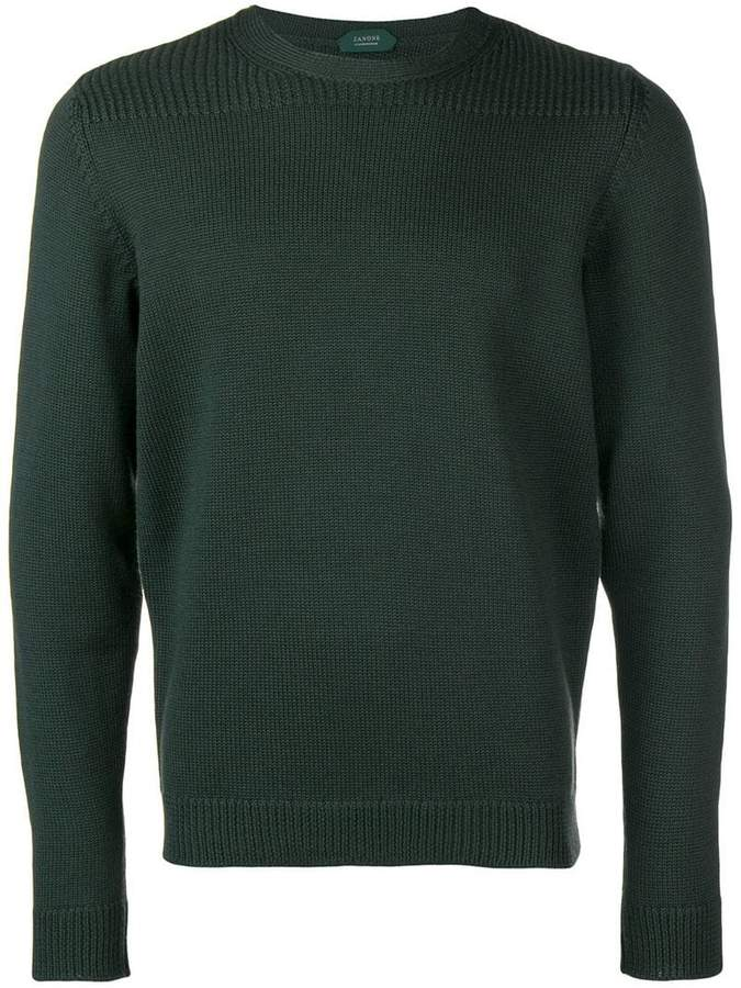 Zanone ribbed shoulder sweater