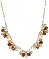 Carolee Mixed Shape Halo Teardrop Frontal Necklace