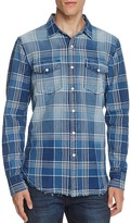 Joe's Jeans Indigo Plaid Regular Fit Snap Front Shirt
