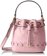 Milly Astor Whipstich Small Drawstring Cross-Body Bag