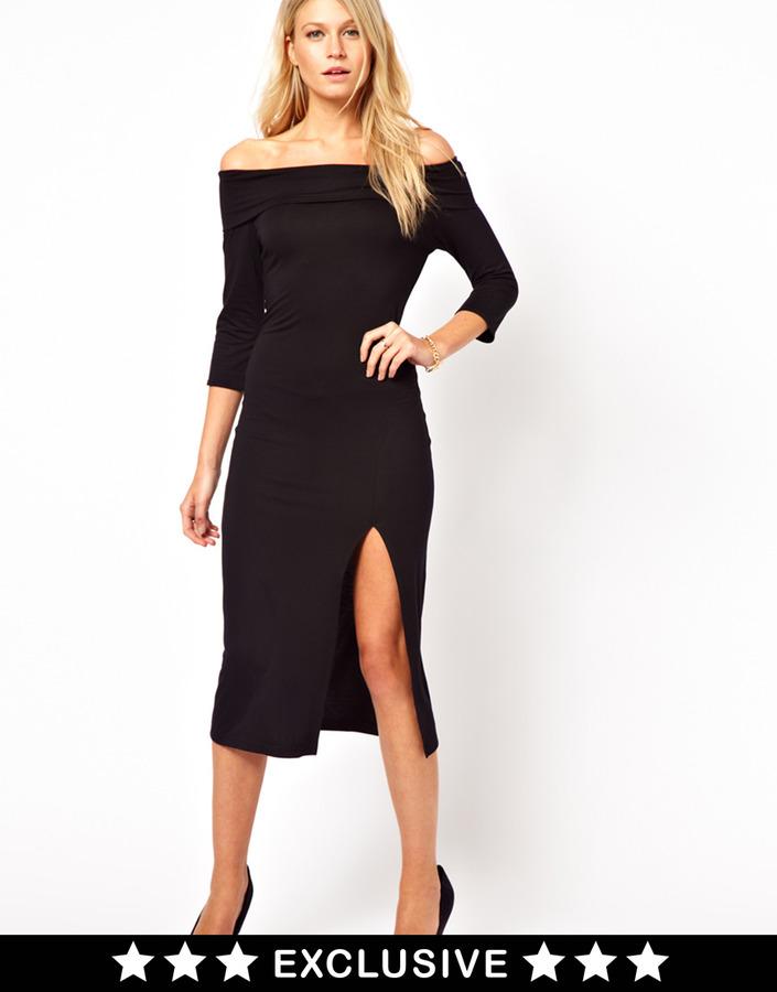 Love Midi Dress with Thigh Split