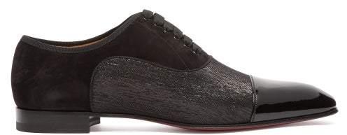 Christian Louboutin Greggo Orlato Patent Leather Oxford Shoes - Mens - Black