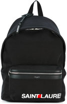 Saint Laurent contrast logo 'City' backpack - men - Cotton - One Size