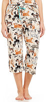 Sleep Sense Dog-Print Capri Sleep Pants