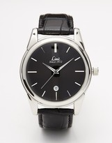 Limit Leather Strap Watch 5452 - Black