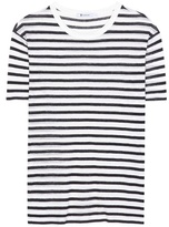 Alexander Wang Striped linen-blend T-shirt