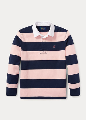 Ralph Lauren Pink Pony Striped Cotton Rugby