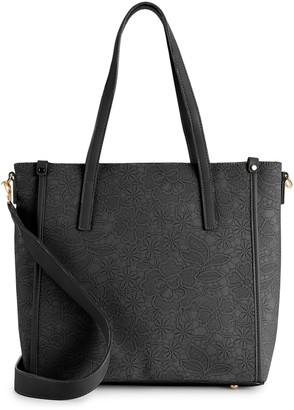 Mellow World Holly Floral Embossed Tote Bag