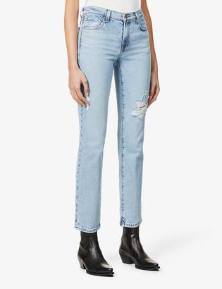J Brand Adele straight mid-rise jeans