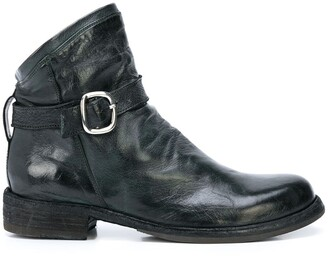 Officine Creative distressed style side buckle boots