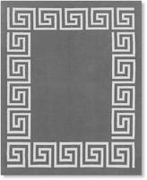 Greek Key Border Indoor/Outdoor Rug, Gray