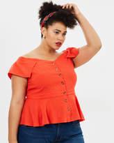 Ivanna Off-Shoulder Button Top