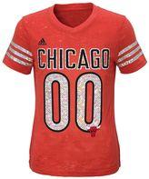 adidas Girls 7-16 Chicago Bulls Burnout Tee