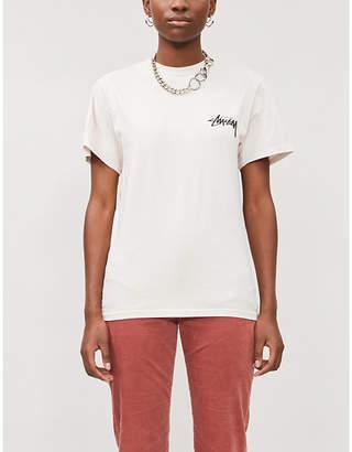 Stussy Daydream brand-print cotton-jersey T-shirt