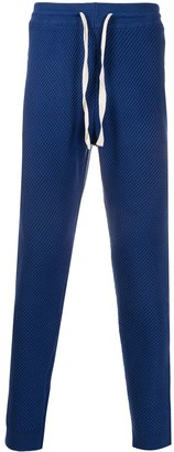 Casablanca Waffle-Knit Tapered Track Pants