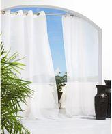 Commonwealth Home Fashions Cote d' Azure Grommet Top Semi-Sheer Indoor/Outdoor Window Curtain Panel